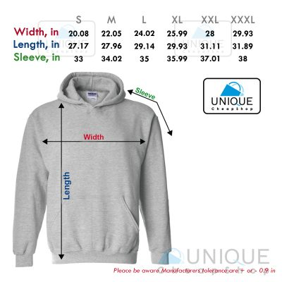 size chart hoodie unique cheap shop - uniquecheapshop.com