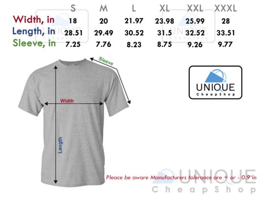 size chart t-shirt unique cheap shop - uniquecheapshop.com