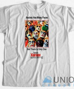 Anxiety Has Many Faces T-Shirt Unique