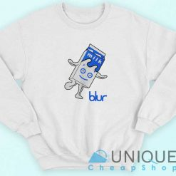 Blur Band Milk Logo Sweatshirt