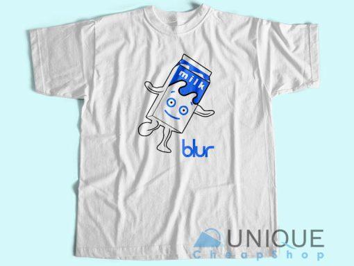 Blur Band Milk Logo T shirt