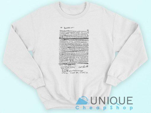 Kurt Cobain Suicide Letter Nirvana Sweatshirt
