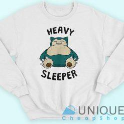 Snorlax Heavy Sleeper Pokemon Go Onesie Sweatshirt