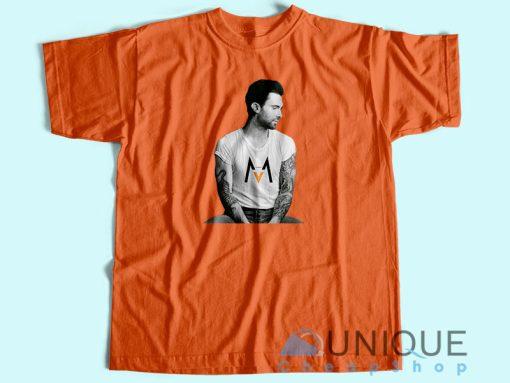 Adam Levine Maroon 5 T-Shirt Orange