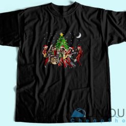 Aerosmith Band Merry Christmas T-Shirt Black