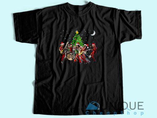 Aerosmith Band Merry Christmas T-Shirt Black