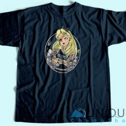 Alice In Wonderland Punk T Shirt Blue