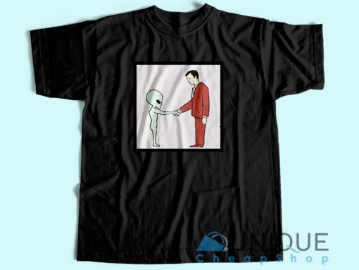 Alien Handshake With Man T Shirt