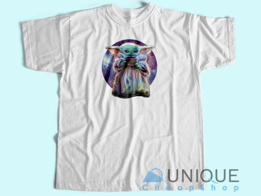 Baby Yoda Want Soup Galaxy T Shirt