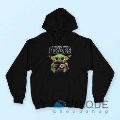 Baby Yoda Hug Philadelphia Flyers Hoodie
