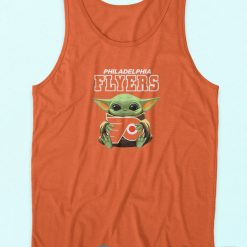 Baby Yoda Philadelphia Flyers Tank Top