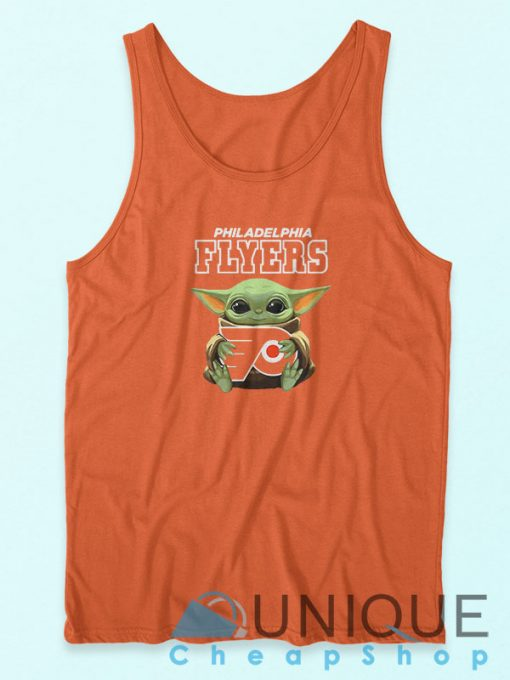 Baby Yoda Philadelphia Flyers Tank Top