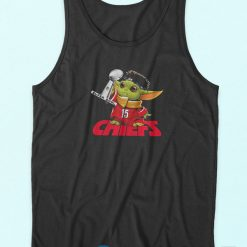Baby Yoda Chiefs Super Bowl Tank Top