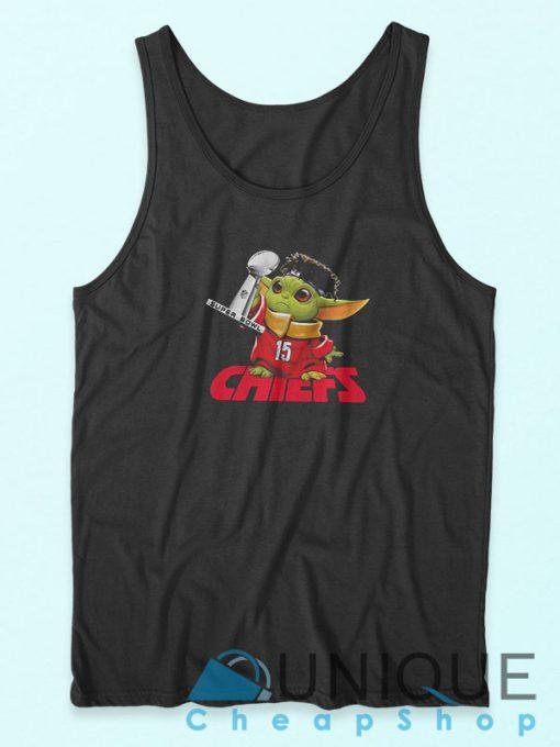 Baby Yoda Chiefs Super Bowl Tank Top