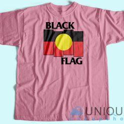 Black Flag X Aboriginal Flag T shirt