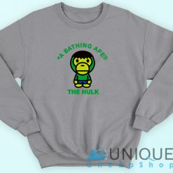 Bape X The Hulk Sweatshirt
