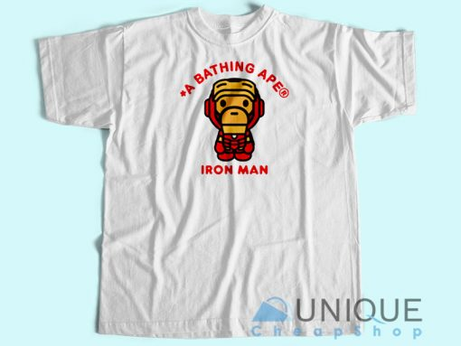 Bape Marvel Iron Man T-Shirt