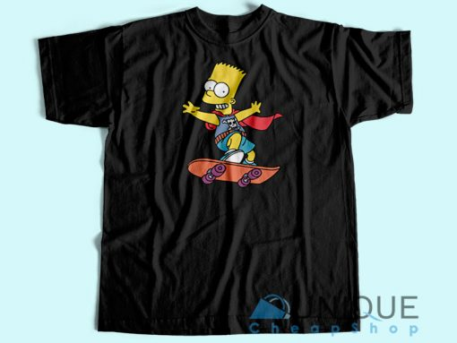 Bart Simpson Skateboard T-Shirt