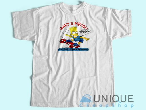 Bart Simpson Skateboard Champion T-Shirt