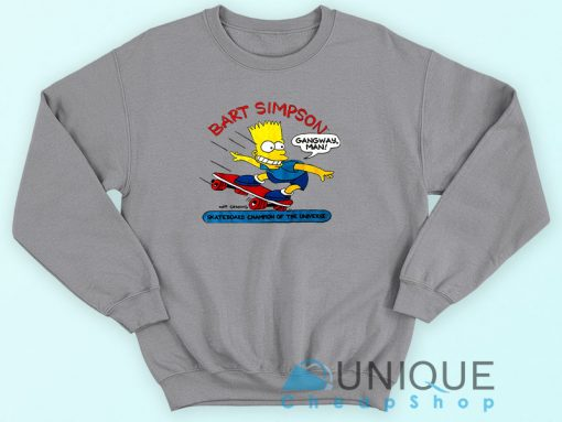 Bart Simpson Skateboard Sweatshirt
