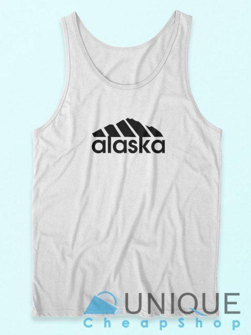 Now Alaska Adidas Logo Parody Tank Top Cheap