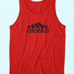 Buy It Now Alaska Adidas Logo Parody Red Tank Top Cheap