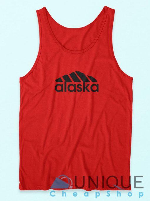 Buy It Now Alaska Adidas Logo Parody Red Tank Top Cheap
