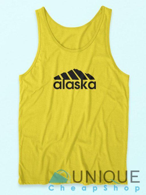 Buy It Now Alaska Adidas Logo Parody Yellow Tank Top Cheap