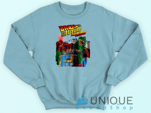 Back To The Future The Ride Sweatshirt Blue