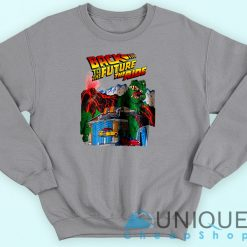 Back To The Future The Ride Grey Sweatshirt