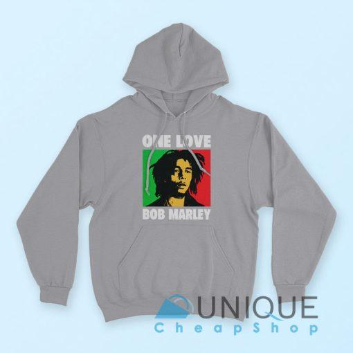 Hoodie Bob Marley One Love Hoodie Grey