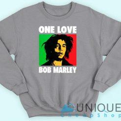 Bob Marley One Love Grey Sweatshirt