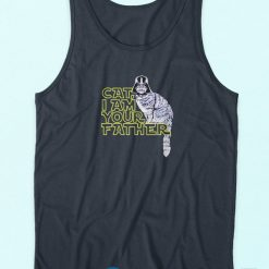 Cat I am Your Father Tank Top blue