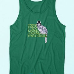 Cat I am Your Father Tank Top Green