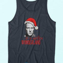 Buy It Now Christopher Walken Christmas Blue Tank Tops Cheap