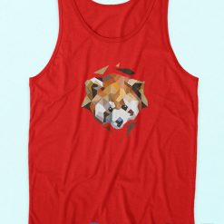 Red Panda Tank Top Red