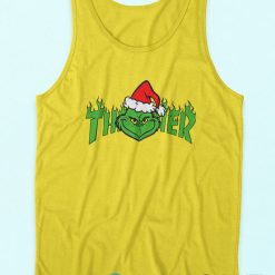 The Grinch Christmas Yellow Tank Tops Cheap