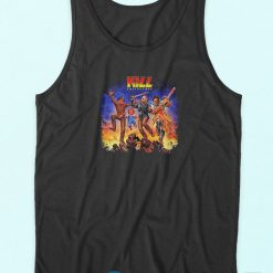 Kill Destroyers Horror Characters Tank Top Black