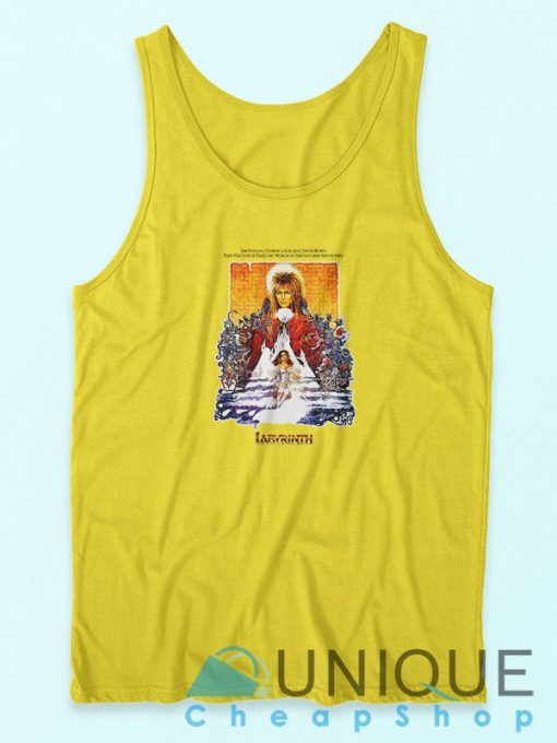 Labyrinth 86 Film Cool David Bowie Tank Top Yellow