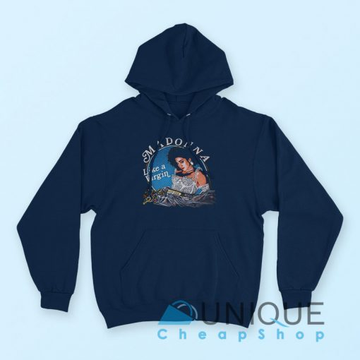 Madonna Like A Virgin Hoodie Navy