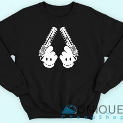 Disney Mickey Mouse Hand Guns Sweatshirt
