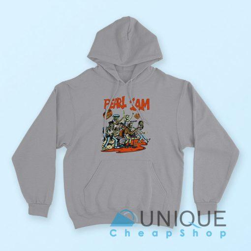 """Buy it Now """"Pearl Jam Moonlight Graham Hoodie"""" Grey Color Hoodie"""