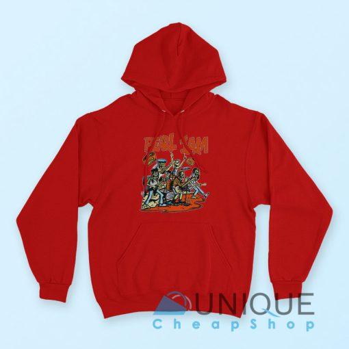"""Buy it Now """"Pearl Jam Moonlight Graham Hoodie"""" Red Color Hoodie"""