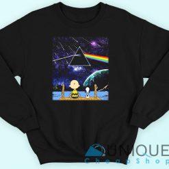 Snoopy And Charlie Brown Pink Floyd Dark Side Of The Moon Sweatshirt