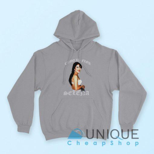 """Buy it Now """"American Singer Selena Quintanilla Hoodie"""" grey color hoodie"""