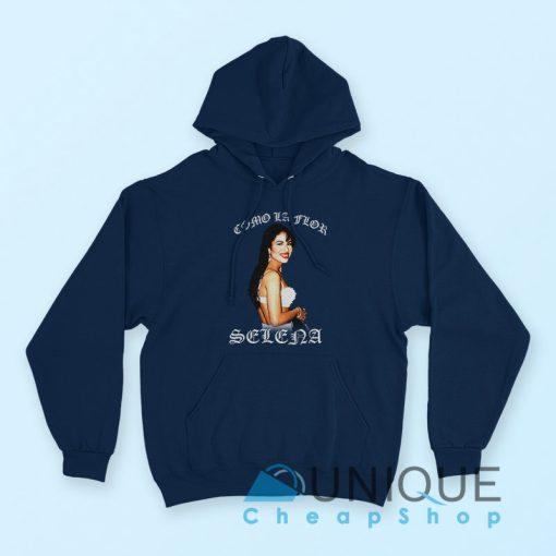 """Buy it Now """"American Singer Selena Quintanilla Hoodie"""" navy color hoodie"""