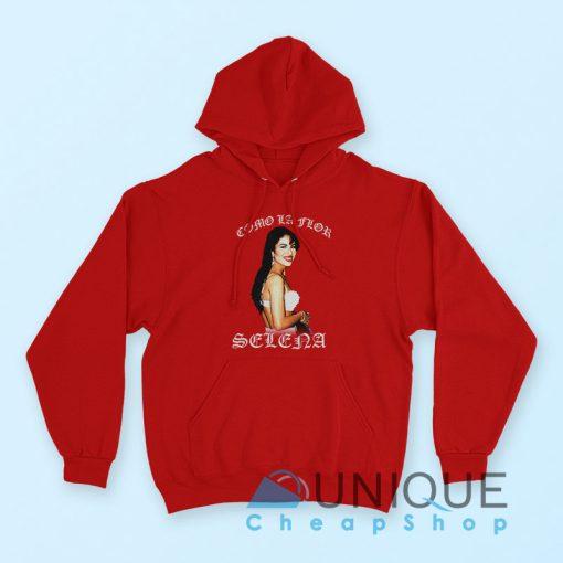 """Buy it Now """"American Singer Selena Quintanilla Hoodie"""" Red color hoodie"""