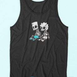 The Simpsons Bart and Lisa Skeletons Tank Top