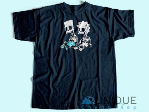 Bart and Lisa Skeleton T-Shirt