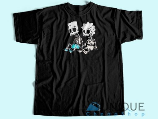 Bart and Lisa Skeleton T-Shirt